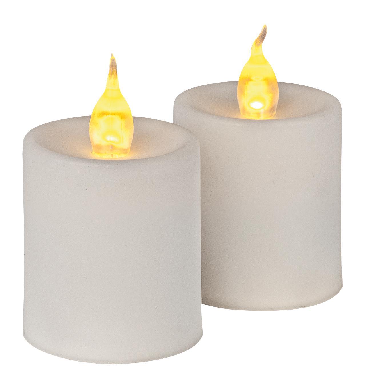 led kerzen mit flackerlicht und lichterketten sowie teelichte. Black Bedroom Furniture Sets. Home Design Ideas