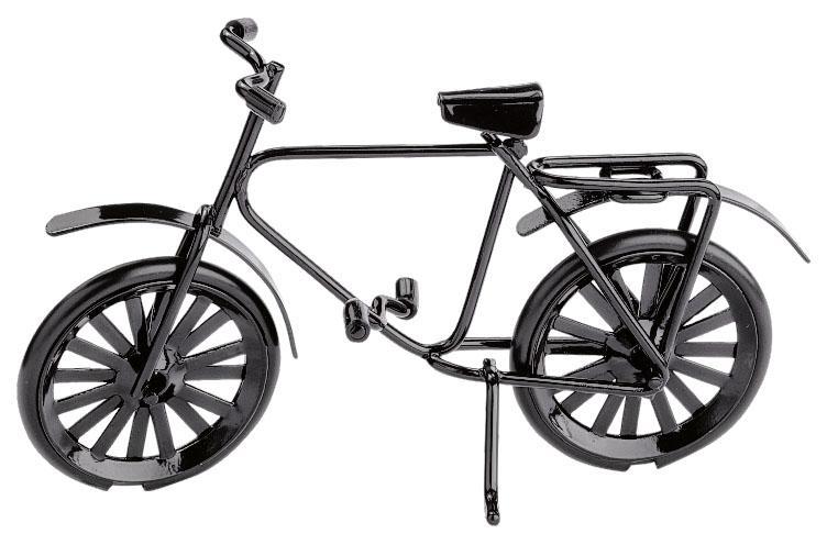 miniatur fahrrad deko fahrrad in schwarz. Black Bedroom Furniture Sets. Home Design Ideas