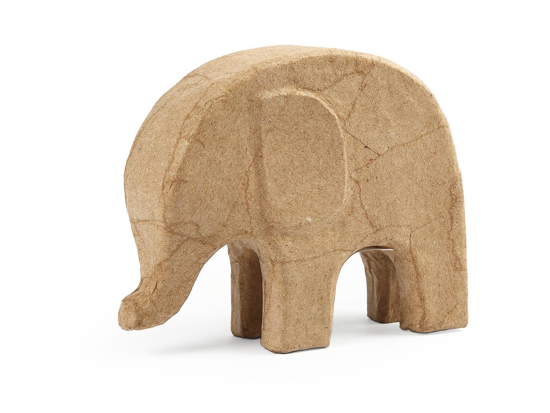 elefant jumbo aus pappmach f r ihre decoupage technik. Black Bedroom Furniture Sets. Home Design Ideas