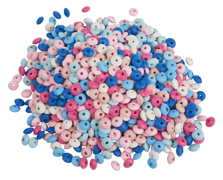 250 g de perles toupies en bois multicolore gros acheteurs vbs loisirs cr atifs vbs hobby. Black Bedroom Furniture Sets. Home Design Ideas