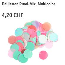 Pailletten Rund-Mix, Multicolor