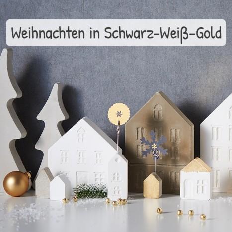 Weihnachtsdeko Für Zuhause.Weihnachtsdeko In Schwarz Weiß Gold Vbs Hobby