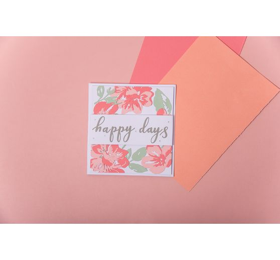 "Sizzix Thinlits Stanzschablone ""Floral Layers"""