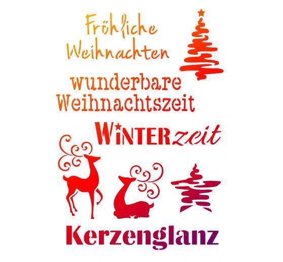 Knöpfe Weihnachtsmotive.Schablone Weihnachtsmotive Schriften