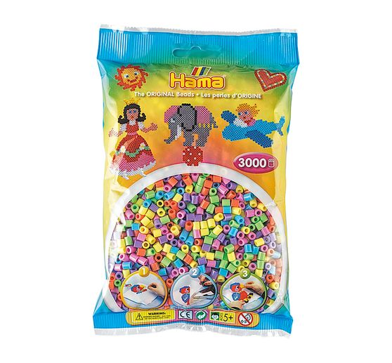 Assortiment de perles Hama, env. 3000 pc., pastel
