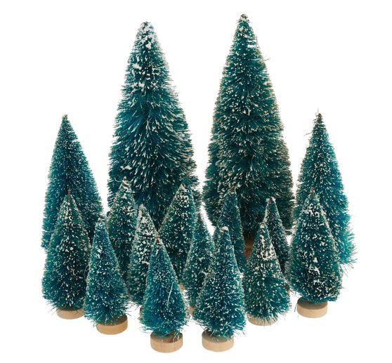 Danke Lieber Tannenbaum Text.16 Tlg Miniatur Tannenbaum Set Beschneit Vbs Großhandelspackung