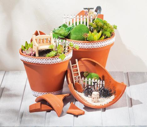 Minigarten Im Glas mini-garten im terrakotta-trio | vbs hobby bastelshop